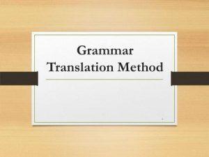 Грамматико-переводной метод