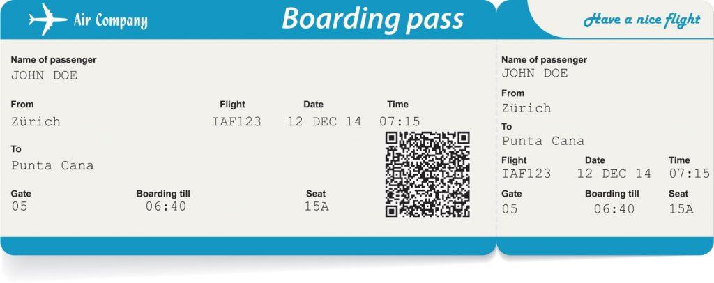 Посадочный талон (boarding pass)