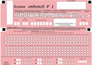 Так выглядит бланк ответов к экзамену ОГЭ